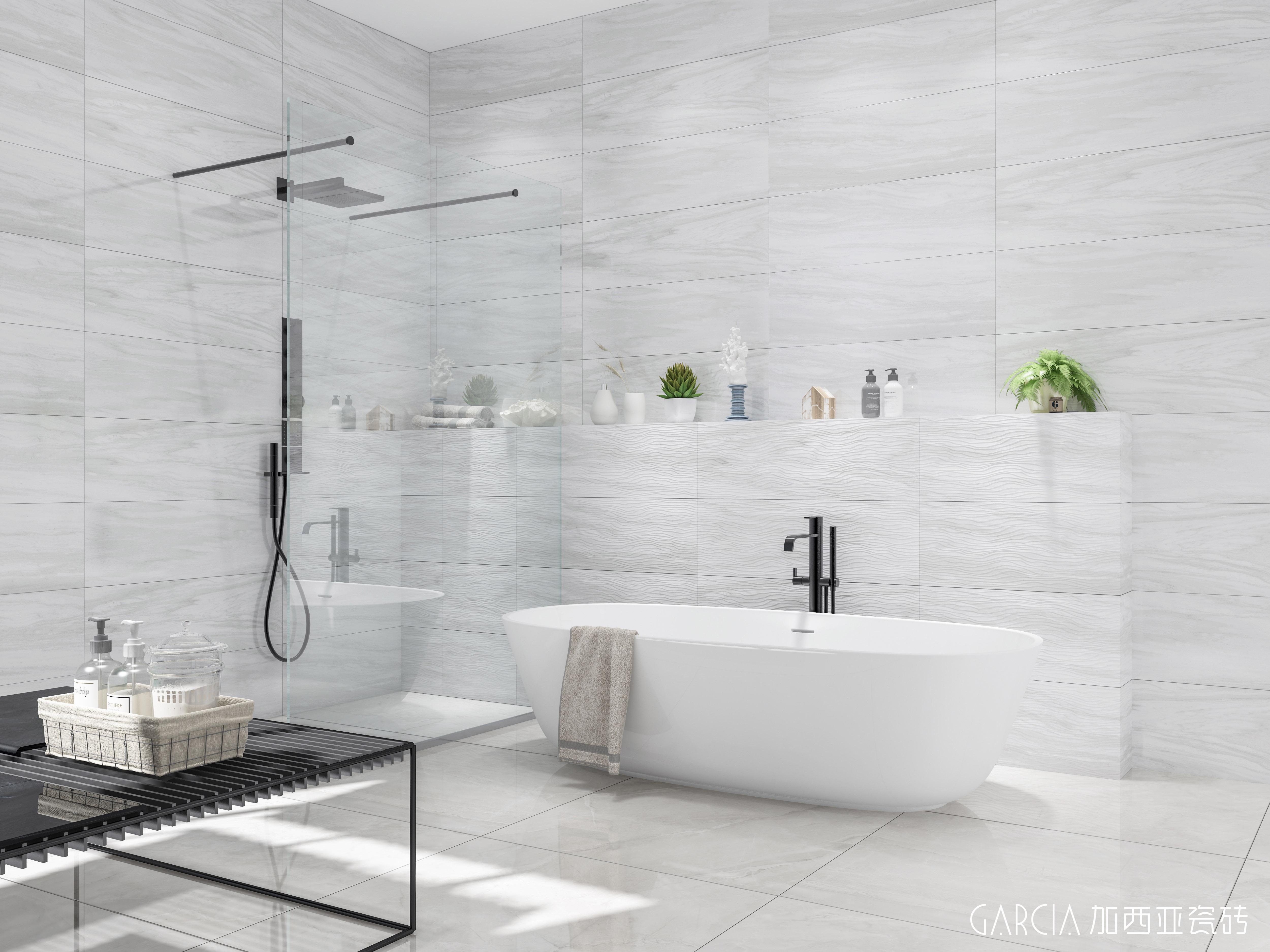 厕所瓷砖效果图灰色